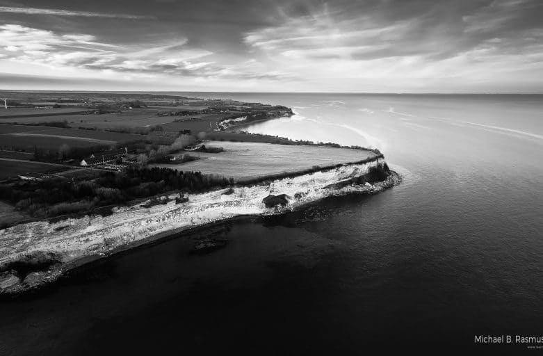 The Unesco herritage site Stevns Klint Denmark 2017